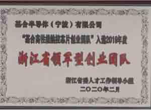 <span>浙江省领军型创业团队</span><br />